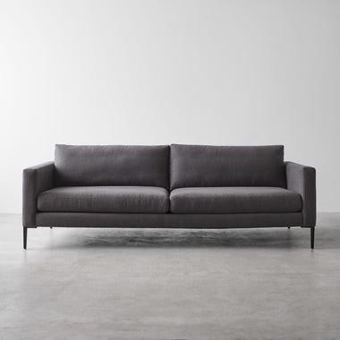 Irving Graphite Sofa 90""