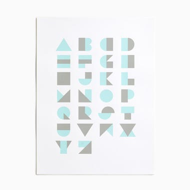 Alphablocks Mint Print