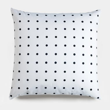 Dots_Black_Throw_Pillow_22x22