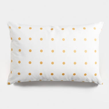 Dots_Gold_Throw_Pillow_12x18