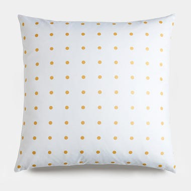 Dots_Gold_Throw_Pillow_22x22