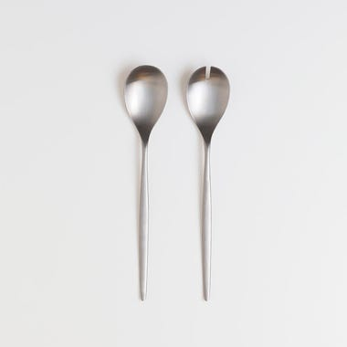 Eve Brushed Stainless Steel Salad Servers