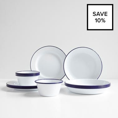 Falcon White 12pc Dinnerware Bundle