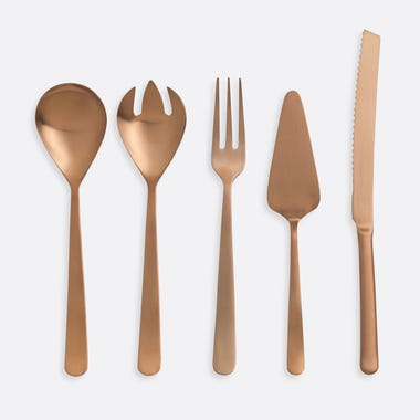 Galvin Copper 5pc Serve Set