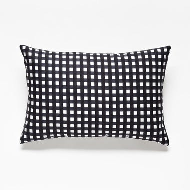 Gingham_Graphite_Throw_Pillow_12x18