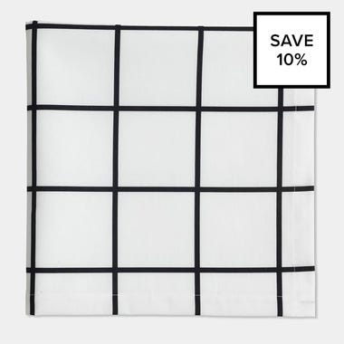 Grid Black Napkin 8pc Bundle