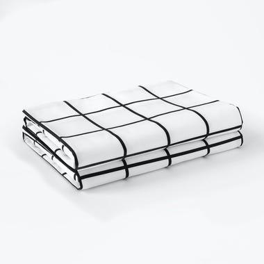 Grid Black Sheets Queen