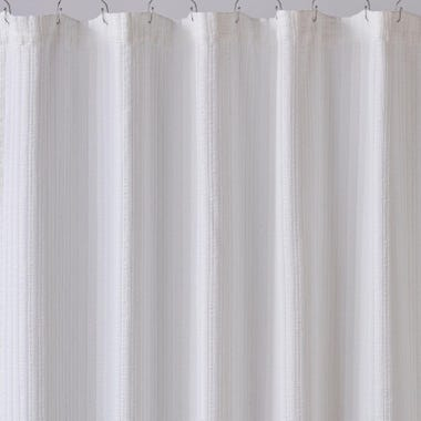 Harrison White Shower Curtain
