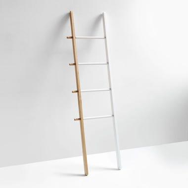 Hub White and Natural Ladder