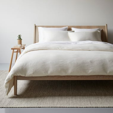 Ivory Hemp Duvet Cover