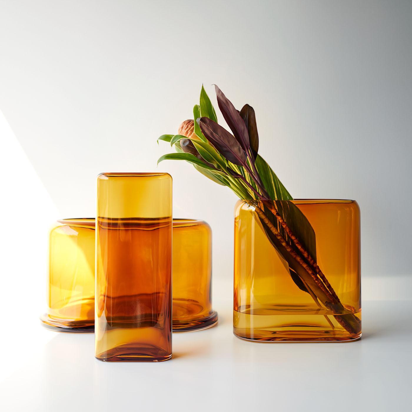 Layers Amber Vases