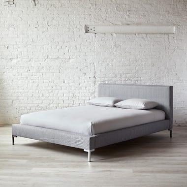 Mesh Gray Platform Bed King
