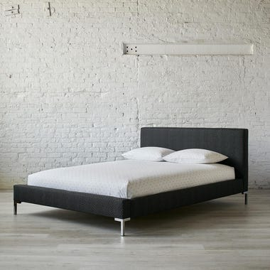 Stippled Black Platform Bed