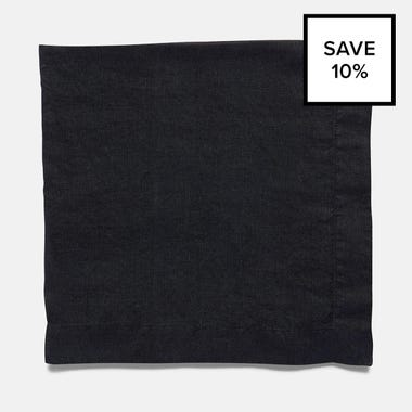 Linen Black Napkin 8pc Bundle