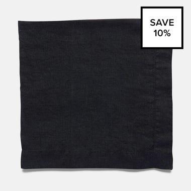 Linen Black Napkin 8pc Bundle