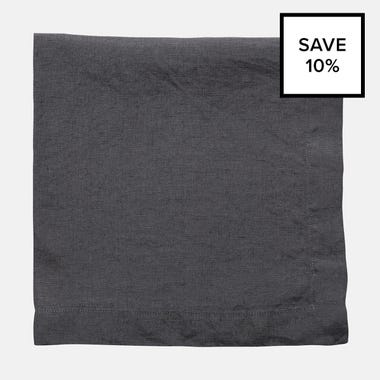 Linen Graphite Napkin 8pc Bundle