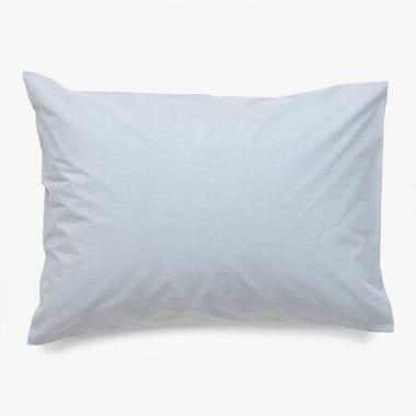 Linen Powder Blue Pillowcase Standard Set of 2