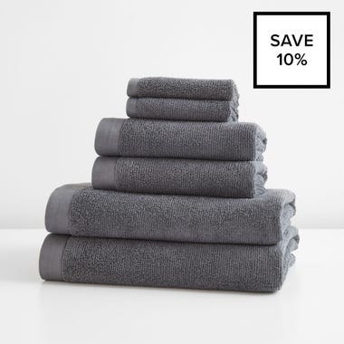Logan Graphite Towel 6pc Bundle
