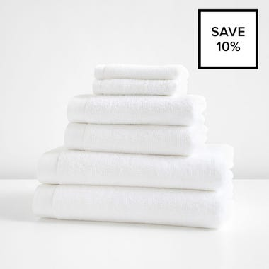Logan White Towel 6pc Bundle