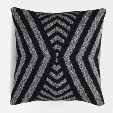 Milano_Black_Knit_Throw_Pillow_18x18
