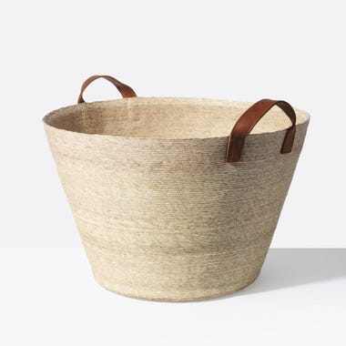 Natural Tall Floor Basket