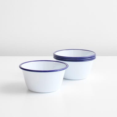 Falcon White Enamelware Bowls Set of 4