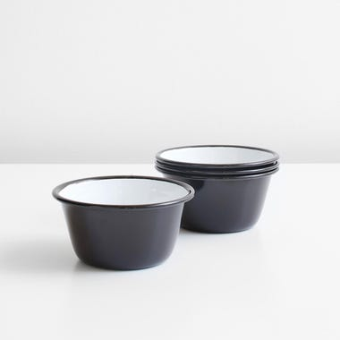 Falcon Black Enamelware Bowls Set of 4