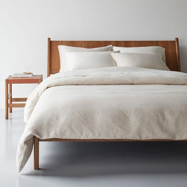 Oatmeal Chambray Duvet Cover