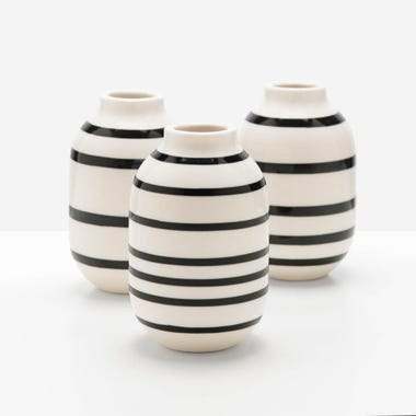 Omaggio Black Mini Vase Set of 3
