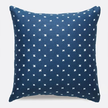 Sashi Geo Indigo Linen Pillow
