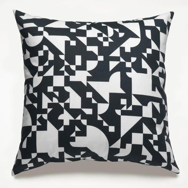 Shapes_Black_Throw_Pillow_22x22
