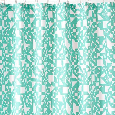Shapes Mint Shower Curtain