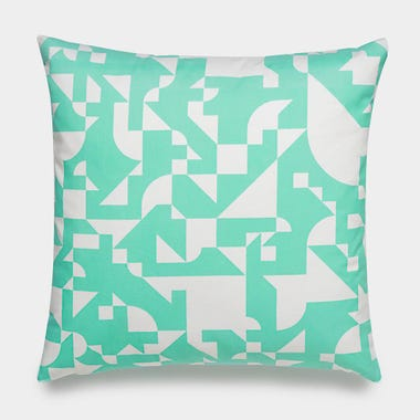 Shapes_Mint_Throw_Pillow_17x17