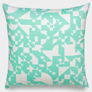 Shapes_Mint_Throw_Pillow_22x22
