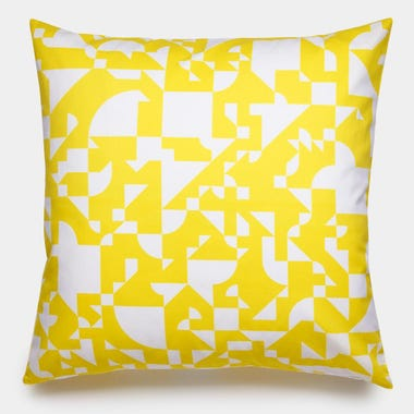 Shapes_Yellow_Throw_Pillow_22x22