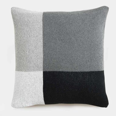 Sonia Graphite Knit Throw Pillow Cover 18 x 18