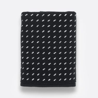 Stitch Black Woven Hand Towel