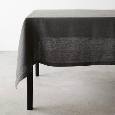 Linen Graphite Tablecloth 60x120