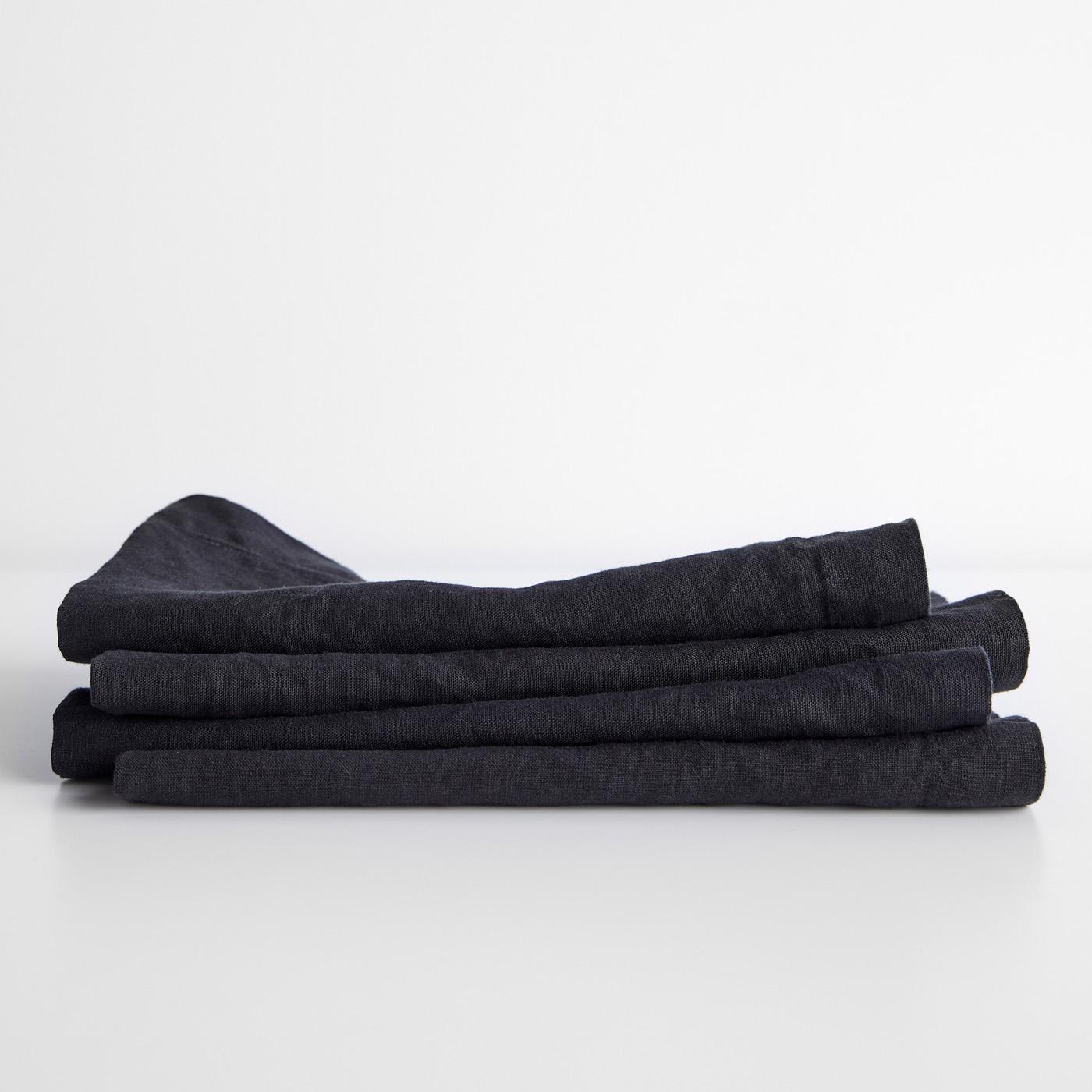 Linen Black Napkin