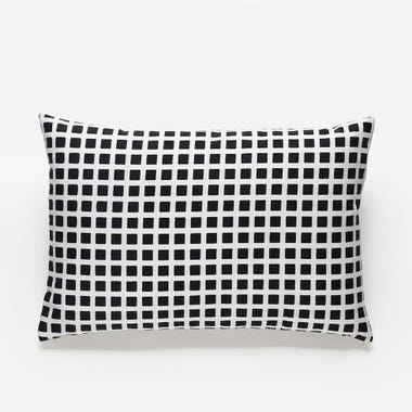 Tiles_Black_Throw_Pillow_12x18