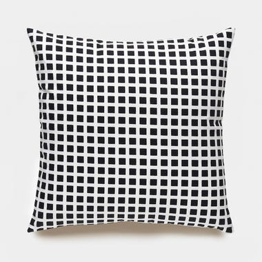 Tiles_Black_Throw_Pillow_17x17