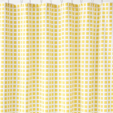 Tiles Lemon Shower Curtain