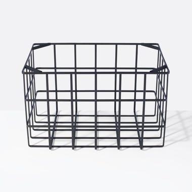 Tower Black Large Stackable Basket