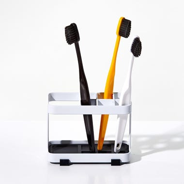 Tower White Toothbrush Holder