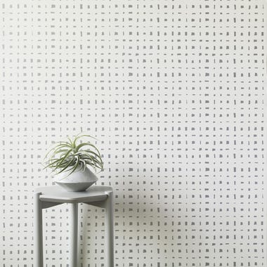 Lattice Silver Wallpaper