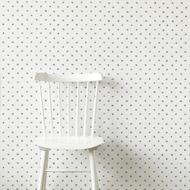 Sashi Geo Black Wallpaper