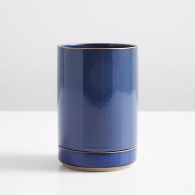 Hasami Gloss Blue Small Planter and Saucer Set