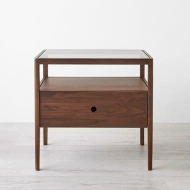 Spindle Walnut Nightstand
