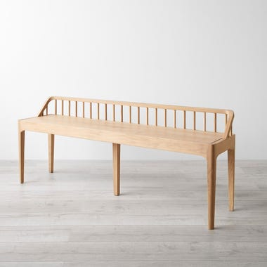 Spindle Oak Bench