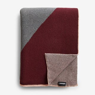 Turin Burgundy Knit Throw Blanket